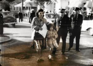 Children Yolanda Gabrielle escorted by mom