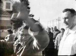 Children woman hits camera