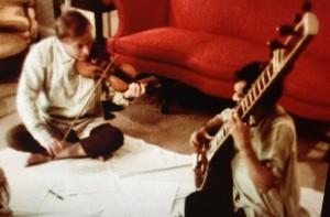 Yehudi Menuhin jams with Ravi Shankar